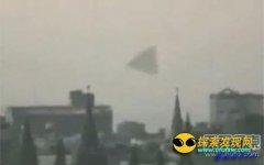 震惊俄罗斯!莫斯科红场现巨型飞碟