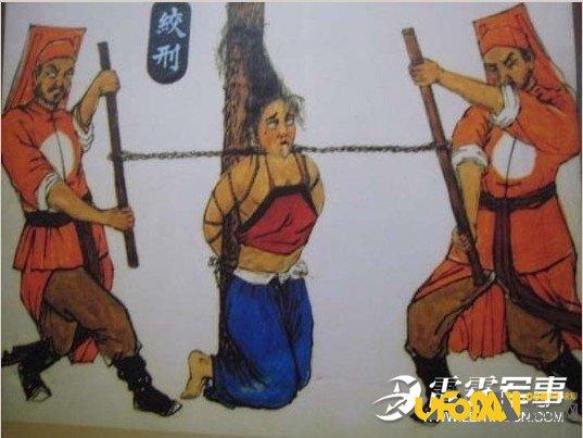 古代女子刑罚28种之椅木马图片