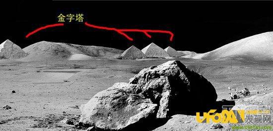 月球发现神秘尖塔,月球卫星照片现人影