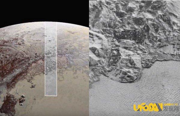 """冥王星探测器在冥王星山顶发现""""积雪"""""""