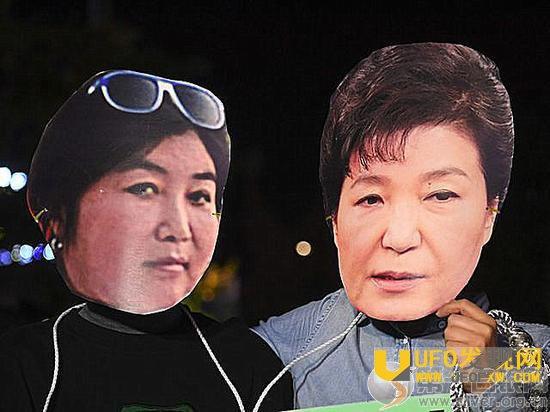 朴槿惠被弹骇资料图