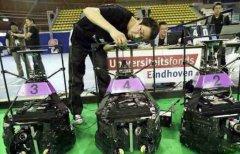 荷兰机器人足球世界杯 中国队夺冠