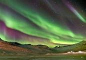 大自然精彩奇观:冰岛极光