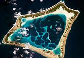 从太空拍摄地球上美丽岛屿