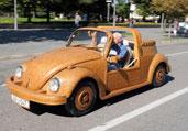 亮瞎眼的纯手工橡木小汽车